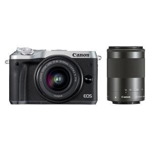 《新品》 Canon (キヤノン) EOS M6 ダブルズームキット シルバー|ymapcamera