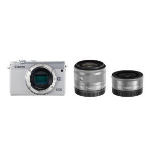 《新品》 Canon (キヤノン) EOS M100 ダブルレンズキット ホワイト|ymapcamera