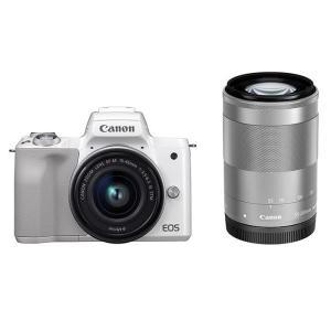 《新品》 Canon (キヤノン) EOS Kiss M ダブルズームキット ホワイト【¥10,000-キャッシュバック対象】|ymapcamera