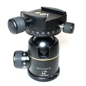 《新品アクセサリー》 photoclam(フォトクラム) 42mm プレミアム ボールヘッド雲台 Pro Gold III Easy PQRS ブラック|ymapcamera