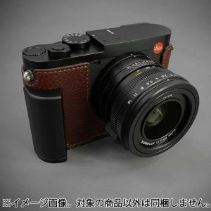 《新品アクセサリー》 LIM'S(リムズ) メタルグリップ本革カメラハーフケース ライカ Q2用 LC-QD2BR1 ブラウン ymapcamera