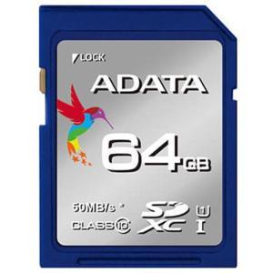 《新品アクセサリー》 ADATA (エーデータ) Premier SDXCカード UHS-I Class10 R/W:50/10 64GB ASDX6|ymapcamera