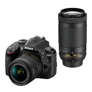 《新品》 Nikon(ニコン) D3400 ダブルズームキット ブラック|ymapcamera