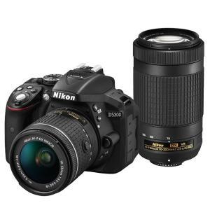 《新品》 Nikon(ニコン) D5300 AF-P ダブルズームキット ブラック|ymapcamera