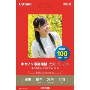 《新品》 Canon (キヤノン) 写真用紙光沢 ゴールド 2L判 100枚 (GL-1012L100)|ymapcamera