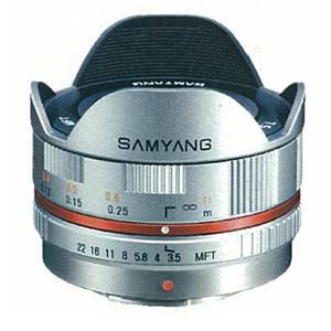 《新品》 SAMYANG(サムヤン) 7.5mm F3.5 フィッシュアイ(マイクロフォーサーズ用) シルバー|ymapcamera