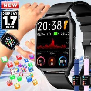スマートウォッチ 腕時計 レディース 女性 子供 メンズ 体温測定 血圧測定 血中酸素 おしゃれ 通...