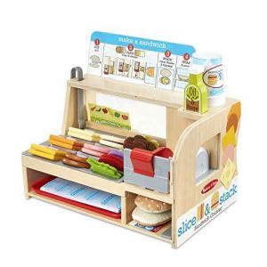 ままごと ごっこ遊び 木 メリッサ&ダグ サンドイッチ カウンター 屋さん ごっこ遊びトイ おもちゃ 木製玩具 お店屋さん Melissa&Doug ymitsp