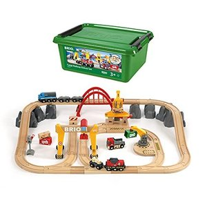 BRIO ( ブリオ ) WORLD カーゴレールデラックスセット [全54ピース] 対象年齢 3歳~ ( 電動車両 電車 おもちゃ 木製 レール ) ymitsp