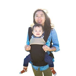 ルミエール 6WAY 抱っこ紐 温度調節パネルで年中快適 - 前向き おんぶ 授乳可能 - 腰サポート付 (Black)|ymitsp