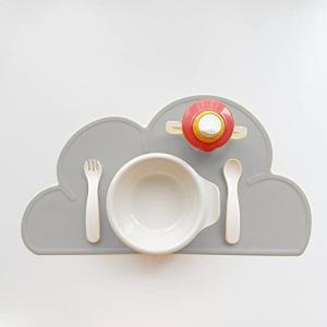 Reles ランチョンマット キッズ シリコン 雲 北欧 小学生 幼稚園 赤ちゃん 子供用 可愛い おしゃれ 離乳食 食洗機対応 出産祝い ギフト 撥|ymitsp