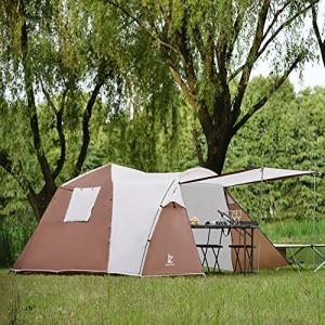 テント 大型4-6人用 ファミリー 家族 ワンタッチテント おしゃれ 折りたたみ 簡易テント 簡単 軽量 UVカット 紫外線 メッシュ 防水 蚊虫防ギ|ymitsp