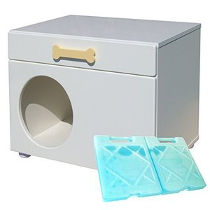 ペットハウス「オアシス 横置き型」 犬,猫,ペットの暑さ対策、熱中症予防に室内用ひんやりハウス (ナチュラル) ymitsp