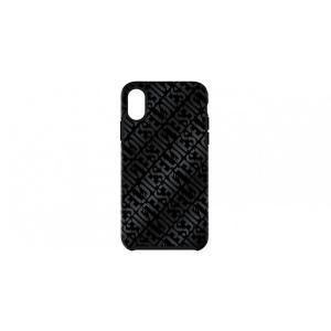 Diesel iPhoneXS iPhoneX ケース DIESEL COMOLD CASE Distressed Logo Pattern Black Black Foil DoubleIML|ymobileselection