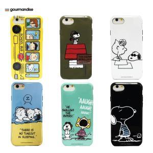 gourmandise ピーナッツ iPhone 7対応 ソフトケース スヌーピー&サリー|ymobileselection