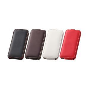 iPhone SE / 5s / 5 フラップタイプ・レザージャケット / ダークブラウン|ymobileselection