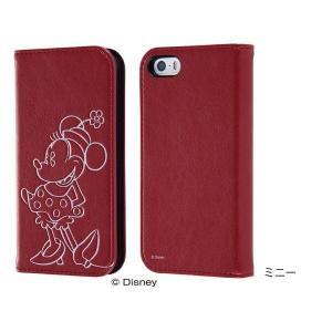 iPhone SE / 5s / 5 ディズニー 手帳型ケース ホットスタンプ ミニー|ymobileselection