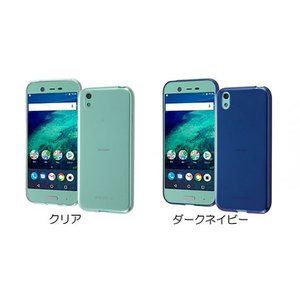 ray-out Android One X1 TPUソフトケース 極薄 ダークネイビー|ymobileselection
