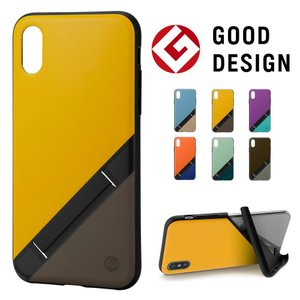 campino OLE stand Bicolor for iPhoneXS iPhoneX  バナナイエロー × ココアブラウン|ymobileselection