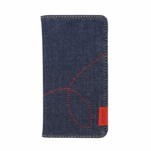 ZENUS HUAWEI P20 lite Denim Stitch スライド式手帳型ケース|ymobileselection