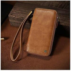 FLOVEME Hand Carry Wallet case for iPhone 7Plus Brown|ymobileselection