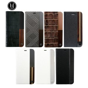 SALE! UUNIQUE 50:50 LUXE CROC - FOLIO HARD SHELL BLACK|ymobileselection