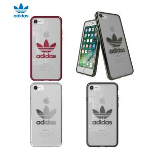 adidas OR-clear case-iPhone 8-Silver logo|ymobileselection
