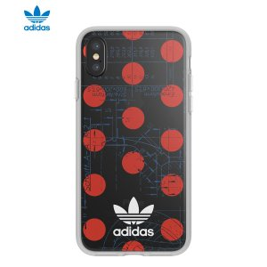 adidas OR-70'S-Clear Case-iPhone X-Red / White|ymobileselection