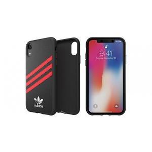 adidas iPhoneXR ケース OR SAMBA Moulded Case PU FW18 ブラック/レッド|ymobileselection