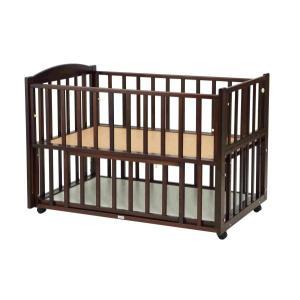 ツーオープンベッド b-side(ビーサイド)ダークブラウン ヤマサキ|ymsk-baby