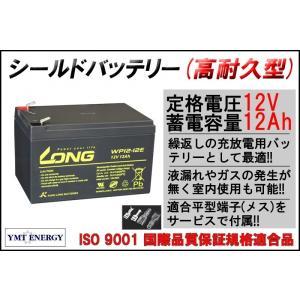 12V 12Ah シールドバッテリー WP12-12E 耐久性1.5倍 完全密封型鉛蓄電池 電動リー...