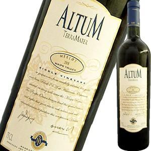 (赤ワイン・チリ)テラ・マター・アルタム・メルロー 2014 wine