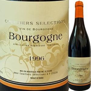 (赤ワイン)クルティエ・セレクション・ブルゴーニュ・ルージュ 1996 wine
