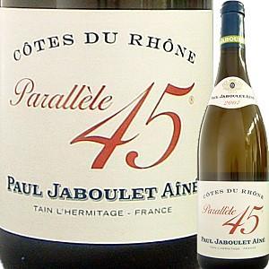 (白ワイン・フランス・ローヌ) ポール・ジャブレ・エネ・コート・デュ・ローヌ・パラレル45・ブラン 2014