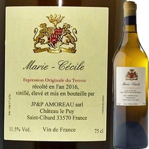 (白ワイン・フランス・ボルドー)シャトー・ル・ピュイ・マリー・セシル 2015 wine