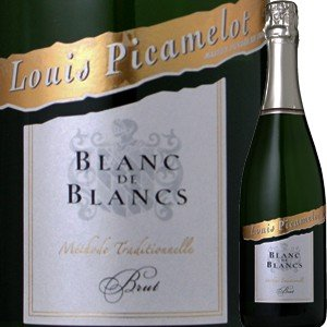 (シャンパン、スパークリング・フランス・ブルゴーニュ) ルイ・ピカメロ・ヴァン・ムスー・ブラン・ド・ブラン・シャルドネ・ブリュット NV