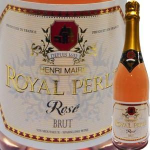 (シャンパン、スパークリング・フランス) アンリ・メール・ロワイヤル・ペルレ・ブリュット・ロゼ NV