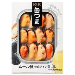 缶つまレストラン ムール貝の白ワイン蒸風 95g (KK 国分)|yo-sake