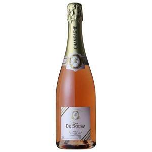 ゾエミ ド スーザ ロゼ ブリュット ディスタンゲ 750ml (三国/フランス/シャンパーニュ/スパークリングワイン/辛口/01771)|yo-sake