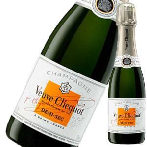 シャンパン ヴーヴクリコ ホワイトラベル ドゥミ セック ハーフ 375ml 正規品 champagne wine|yo-sake