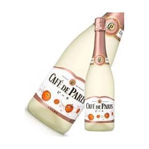 カフェドパリ ピーチ 750ml x 12本 送料無料※(本州のみ) [2ケース販売][フランス/フルーツ スパークリング/Caf? de Paris] yo-sake