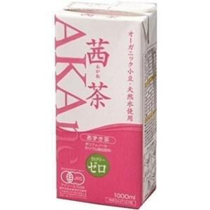 オーガニック茜茶 あずき茶 1L 1000ml x 6本 送料無料 [ケース販売][4ケースまで同梱可能] 遠藤製餡 yo-sake