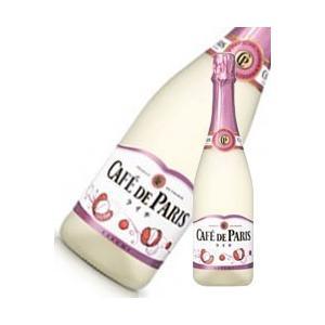 カフェドパリ ライチ 750ml x 12本 送料無料※(本州のみ) [2ケース販売][フランス/フルーツ スパークリング/Caf? de Paris] yo-sake