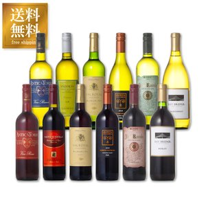 ワインセット デイリーワイン 赤白 12本セット 送料無料※(本州のみ)  (ケース販売) あすつく|yo-sake
