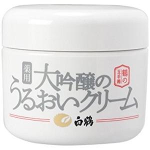 白鶴 鶴の玉手箱 薬用 大吟醸のうるおいクリーム 90g|yo-sake