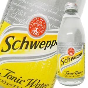 シュウェップス トニックウォータ− 瓶 250ml x 24本 (ケース販売)(2ケースまで同梱可能)|yo-sake