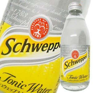 シュウェップス トニックウォータ− (瓶) 250ml x 24本 あすつく対応 (ケース販売) (2ケースまで同梱可能)|yo-sake