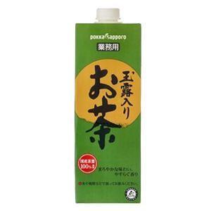 サッポロ 玉露入お茶 業務用 1L x 6本 (ケース販売)(同梱不可)|yo-sake