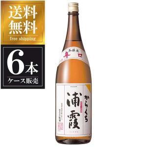 浦霞 本醸造 からくち 1.8L 1800ml x 6本 (ケース販売) 送料無料(本州のみ) (浦霞醸造/宮城県/岡永)|yo-sake