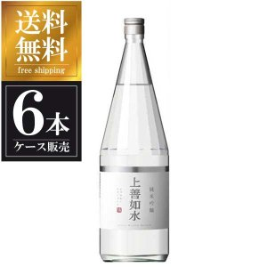 白瀧 上善如水 純米吟醸 1.8L 1800ml x 6本 (ケース販売) 送料無料(本州のみ) (白瀧酒造/新潟県/岡永)|yo-sake